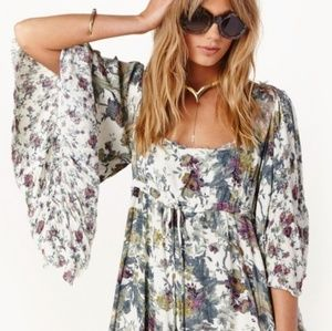 🍍Free People || Heart of Gold Dress in Tea Floral